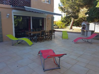 Photo for SUPER HOLIDAY APT., 100 M. BEACH, PORT-FREJUS - BOOKINGS 2020