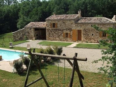 Photo for Gite Périgord comfortable 4 prs private pool in the heart of the forest of Biron