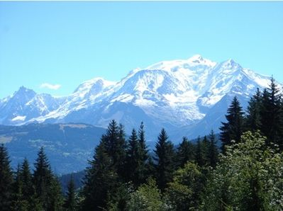 View of Mont Blanc from the Balcony in August
