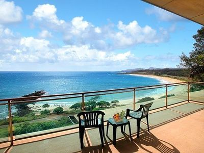 Watch the sun and moon rises over the ocean from the Master Bedroom lanai.