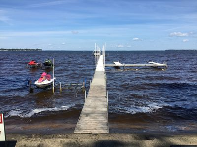 Our 200' dock perfect for fishing or laying out.