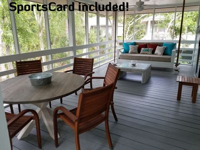 Photo for Renovated Beach Cottage - Walk to Beach & Boardwalk, SportsCard Included