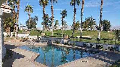 Private Pool & Spa overlooking the 4th Fairway and green.