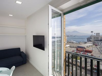 Photo for Seaview Apartment, best view of the Bay and Mount Vesuvius!