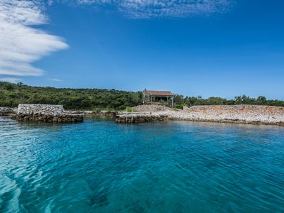 Photo for Family friendly stone house on the sea, on a Dalmatian island, pet-friendly