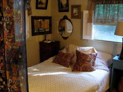 romantic, cozy bedroom for two. Large closet to store all your stuff.
