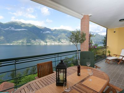 Photo for Modern apartment overlooking Lake Maggiore