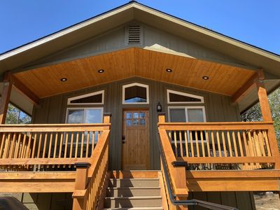 Photo for Pioneer, luxury custom home, pet friendly and fully equipped! This one bedroom cabin hosts a luxu...