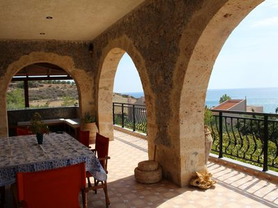 Photo for Directly on the sea, fantastic sea view - Holiday House Keratokampos, Crete