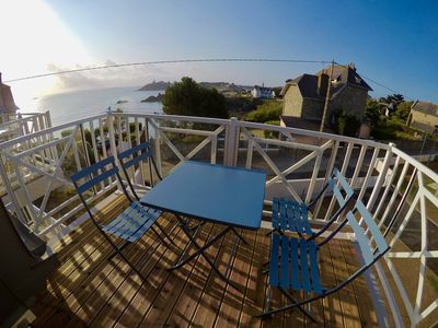 Photo for Apartment full sea view in St Quay Portrieux