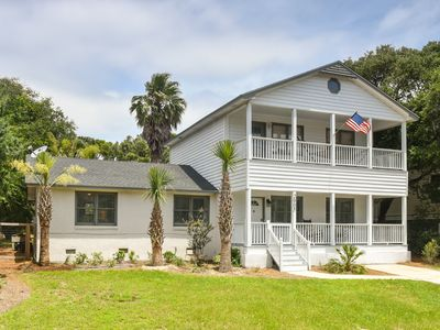Photo for 2905 Palm Blvd Isle of Palms Beach House, 4 BR, private pool steps from beach
