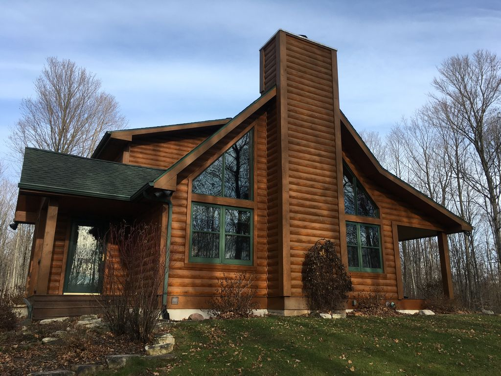 Great Location Egg Harbor Log Cabin 40 Acres With