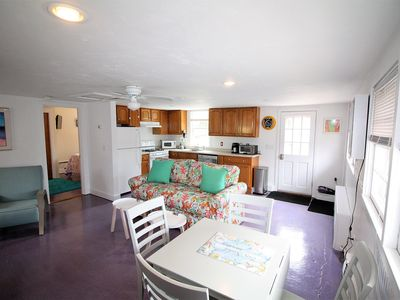 Photo for Relaxing 1-bedroom cottage w/ patio, yard, and grille steps to Surf Drive beach