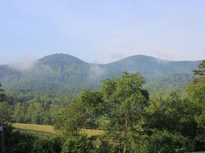 Photo for Mountain Views, Hot Tub and Pet Friendly Cottage