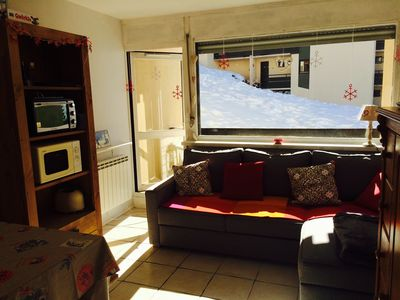Photo for Well equipped, 4 people apartment on the slope, great for children