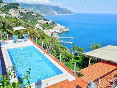 Photo for Villa Madreluna: A spacious three-story villa located on the high coast in front of the sea, with Free WI-FI.