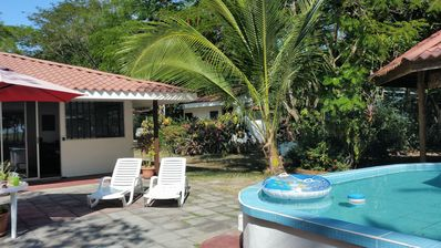 Own private plunge pool. Float with drink in hand