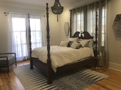 Master bedroom w access to private balcony