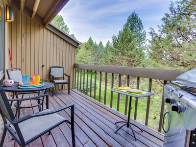 Photo for Mt. Bachelor condo with a private balcony, shared pool, & hot tub!