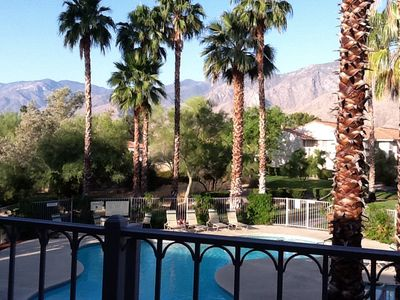 View from our patio overlooking the pool