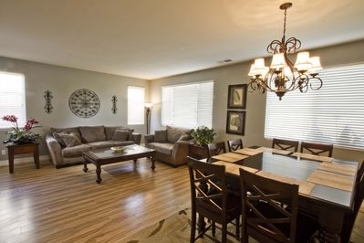 Living & dining- Bright and large space for entertaining or just chilling out.
