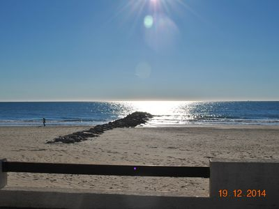 Photo for Apartment T3 with breathtaking sea views, 20m from the beach, private garage