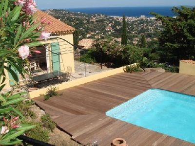 Photo for Bright Villa with wonderful views on the sea. Heated pool and peaceful atmospher
