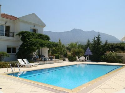 Photo for Villa Manolya with superb mountain & sea views +pool & gardens in premium area