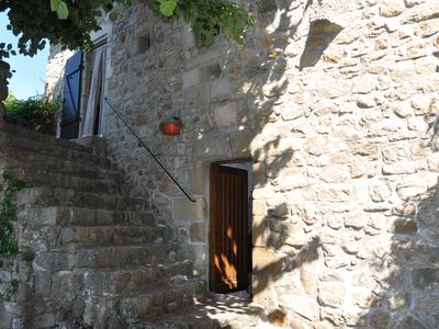 Photo for beautifully situated authentic holiday home in natural stone with small pool