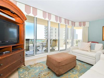 Photo for Large End-Unit Beachfront Condo. Newly Updated. Includes Beach Service