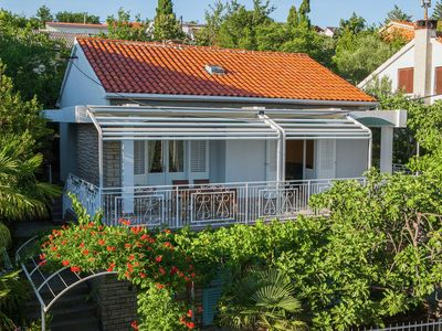 Photo for Charming holiday home 100m from the pebbly beach, big sea view terrace, garage