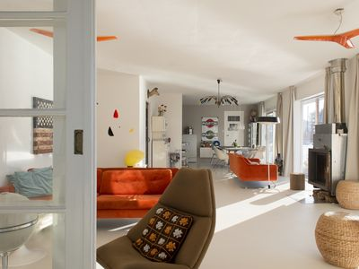 A romantic and unique design house boat on the Amstel river in Amsterdam