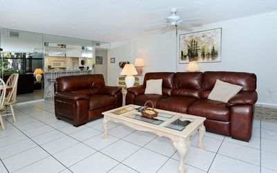 Comfy leather furniture