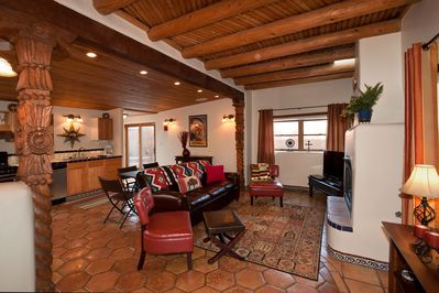 Large one bedroom casita with two spacious courtyards, and portal.