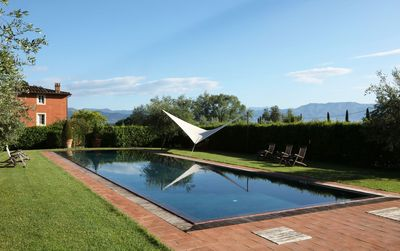 Photo for Beautiful private villa with WIFI, private pool, A/C, TV, patio, washing machine, close to Lucca