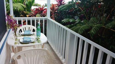 Photo for Hilo Town~Ultra Private!GATED Botonical GARDEN COTTAGE w Koi Pond~