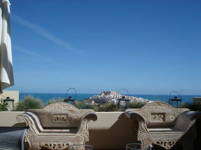Photo for Spectacular views of the Peniscola Castle and the Mediterranean. July Special.