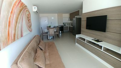 Photo for Spacious 2/4 bedroom Apartment by the sea