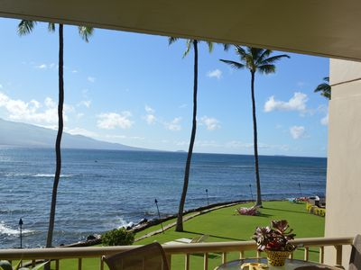 Photo for Maalaea Maui Oceanfront Condo -Mountain Views & Whale Watching