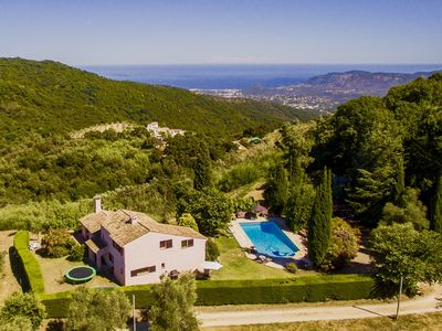 Photo for Uniquely situated villa with pool and stunning sea views near Cannes