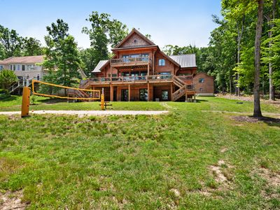 Photo for Luxury cabin w/ boat dock, private hot tub, game room, gym, & firepit - dogs OK
