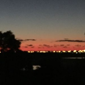 Amazing sunsets from top of the hill over the lake
