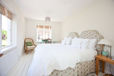Main bedroom is double aspect and much loved by all of our regular guests.