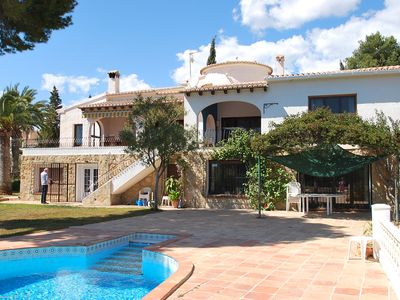 Photo for spacious centrically villa with private pool and sea views