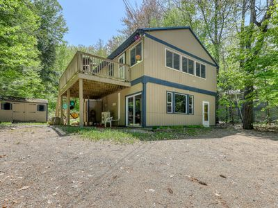 Photo for NEW LISTING! Family-friendly home w/ firepit, across the street from the beach!