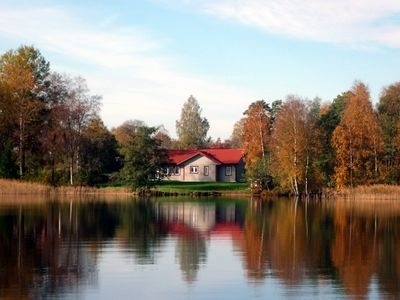 Photo for Holiday home Sweden by the lake bolmen with sauna, fireplace and boat