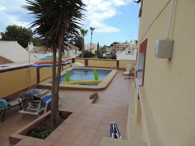 Photo for La Zenia 2 Bed with private pool/jacuzzi + Air Con only 4 mins walk to Beach !!
