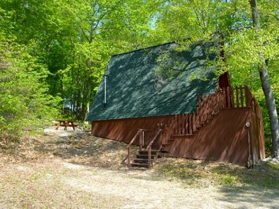 Cedar A Frame Chalet 4 Cabin located on Patoka Lake in Southern Indiana