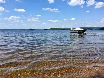 Photo for Waterfront Executive Home + 3 Rustic Cabins on Golden Lake
