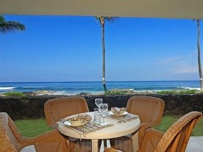 The Lanai Ocean View From our Condo - coffee anyone?